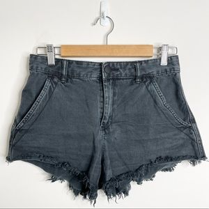 Decjuba Black Denim Shorts